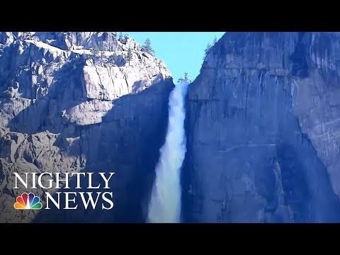 Winter Melt Off Bring Breathtaking Waterfalls To Yosemite | NBC Nightly News