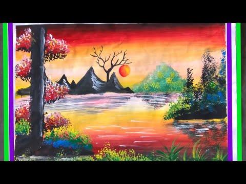 Easy (landscape sunset)painting