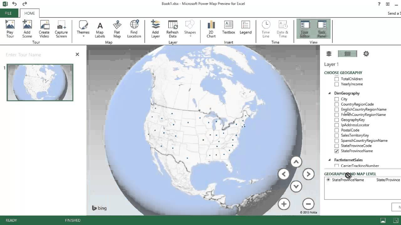 Excel PowerPivot Tutorial with Power Map. 3D Geospatial Data and ...