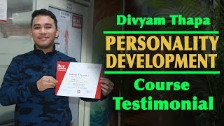 Divyam Thapa  Personality Development Course Testimonial at IELTS Learning