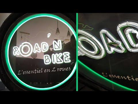 Fabriquer une enseigne lumineuse néon avec un pneu de moto : Road'N Bike
