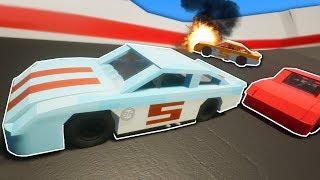 NASCAR RACE DESTRUCTION! - Brick Rigs Multiplayer Gameplay - Lego Nascar Racing