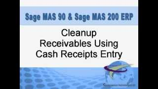 Cleanup Your Receivables Using Cash Receipts Entry Function