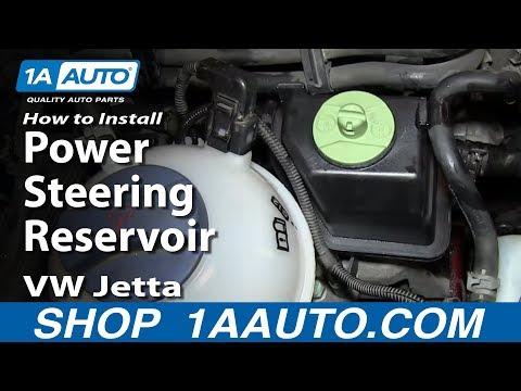How to Replace Power Steering Pump Reservoir 99-05 Volkswagen Jetta or Golf