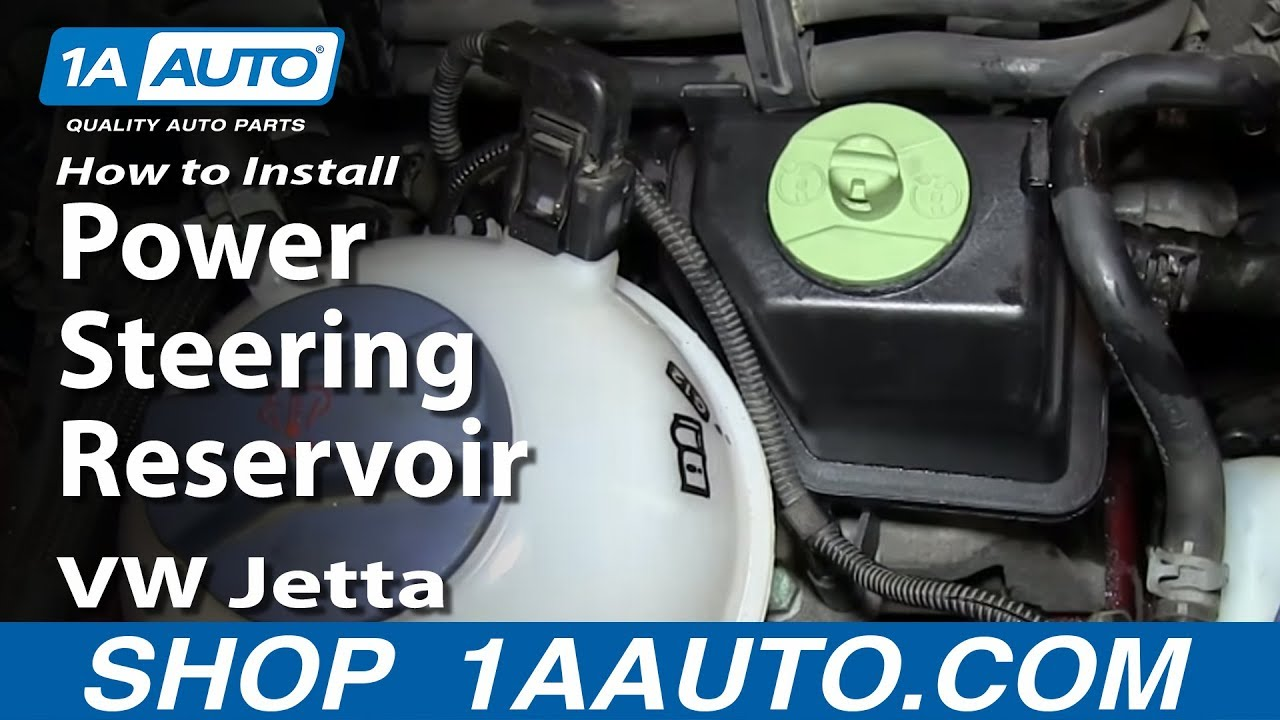 How To Install Replace Power Steering Reservoir 1999 06 Vw