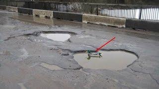 Мужики едут на рыбалку. Плохие дороги. Прикол/ # Russian fails. # Russian roads.