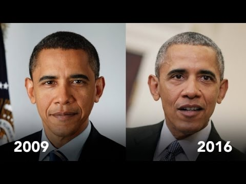 Watch How The Presidency Aged Obama - Newsy