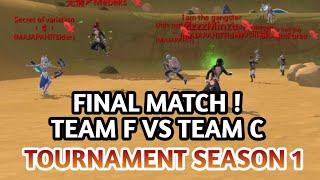 FINAL MATCH ! TEAM F VS TEAM C TOURNAMENT UTOPIA S1 | Utopia : ORIGIN
