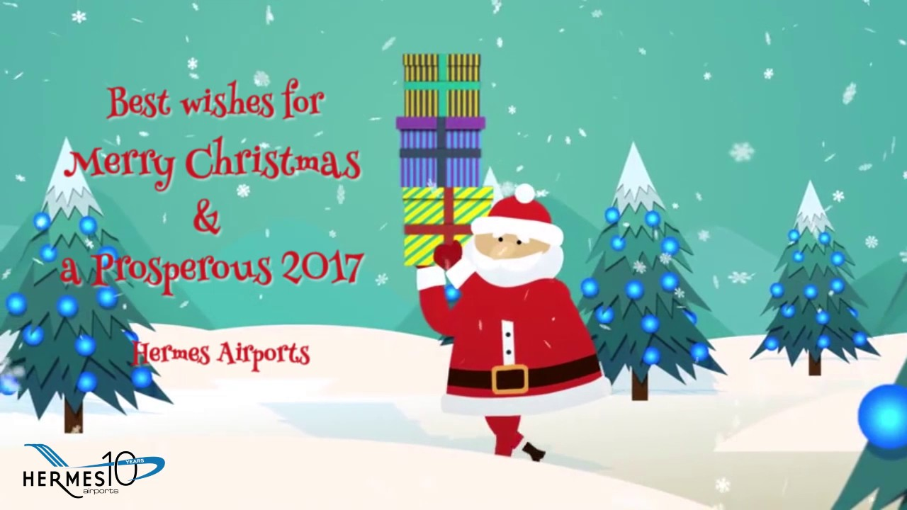 Best Wishes for Merry Christmas & a Prosperous 2017 - YouTube