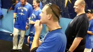 Brignac dancing in Rays clubhouse celebration - Tampa Bay Times