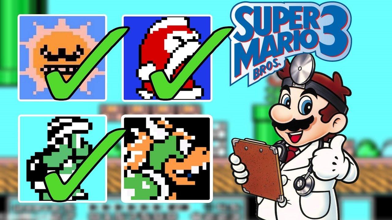 Super Mario Bros 3 All Enemies Youtube