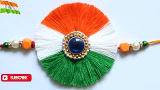 DIY Indian tricolor rakhi  Rakhi for kids Anchor Thread Rakhi  Rakhi Making #Rakhi  #Rakshabandhan