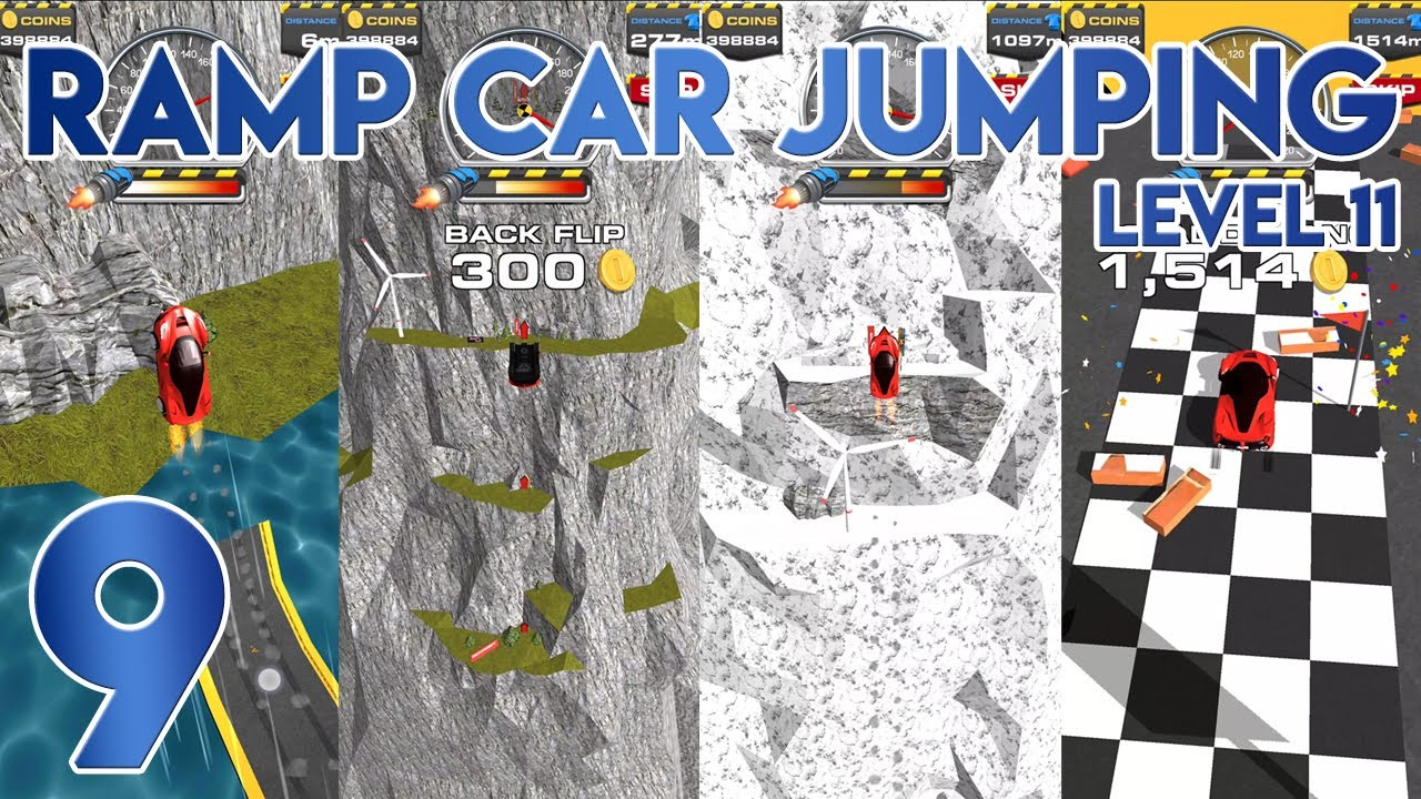 Ramp Car Jumping Level 11 Completed Youtube