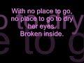 Avril Lavigne - Nobody's Home (With Lyrics)