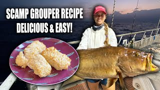 THE BEST TASTING GROUPER + Identical Twin Arm Wrestle  Scamp Grouper Recipe  Gale Force Twins