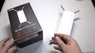 d link dap 1860 ac2600 wi fi range extender unboxing review