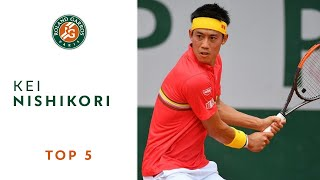 Kei Nishikori - TOP 5 | Roland Garros 2018