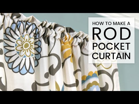 Easy Diy Curtains How To Make A Rod Pocket Curtain Youtube