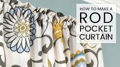 Easy DIY Curtains - How to Make a Rod Pocket Curtain