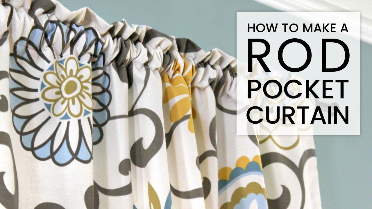 easy diy curtains how to make a rod pocket curtain