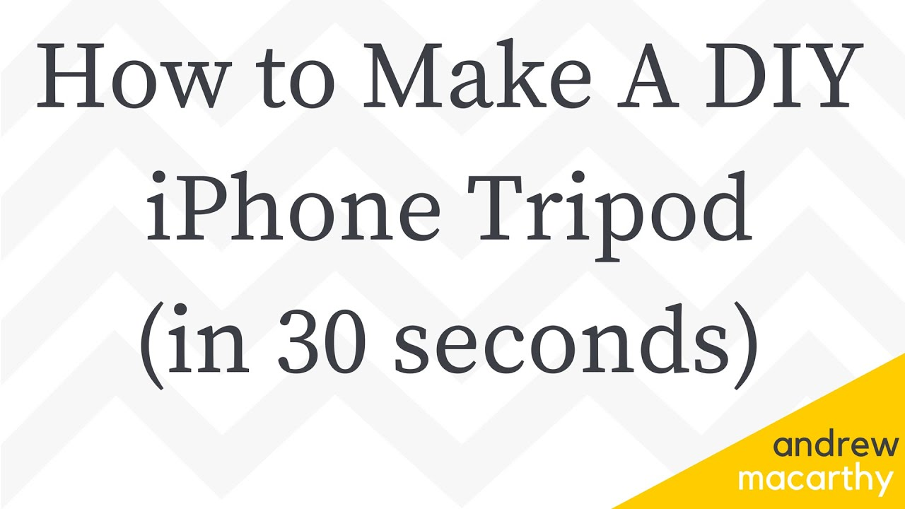 How to Make A DIY iPhone Tripod Stand in 30 Seconds ...