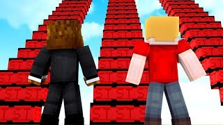 Stranger Things Lucky Block Staircase Race W/ Tewtiy - Minecraft Modded Minigame   JeromeASF
