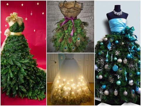 35 Best Dress Form Christmas Trees – Mannequin Christmas Tree Ideas