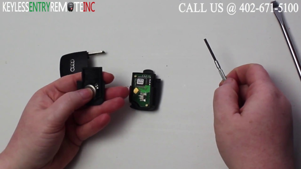 How To Replace An Audi A4 Key Fob Battery 1997 2005 Youtube