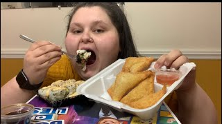 SUSHI & LOBSTER RANGOON MUKBANG!!!!!