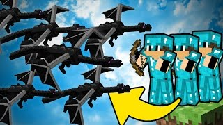 KILLING THE ENDER DRAGON IN BEDWARS (Minecraft Bed Wars #16)
