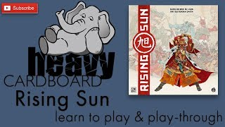 Rising Sun 5p Play-through & Teaching by Heavy Cardboard