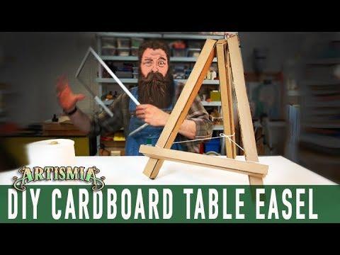 Make an Artist Table Easel ~ CARDBOARD HOW TO  DIY ~ Artismia