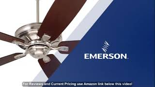 Emerson Ceiling Fans CF784ORB Carrera, 60-Inch Indoor Ceiling Fan, Light Kit Adaptable, Oil Rub