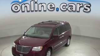 C98645RP Used 2009 Chrysler Town & Country Touring FWD 4D Passenger Mini Van Red Review, For Sale