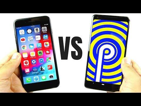 iOS 12 vs Android 9 Pie Comparison!