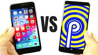 iOS 12 vs Android 9 Pie Comparison!