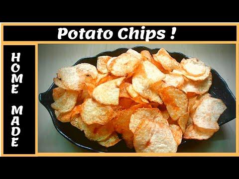 Home Made Potato Chips   உருளைக்கிழங்கு சிப்ஸ்