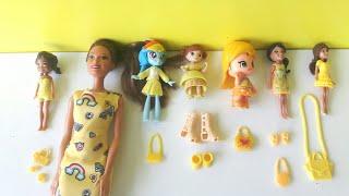 Sarı Kombin Yarışmamızın Kazananı Kim? Kıyafet Giydirme Oyunu Barbie Polly Pocket