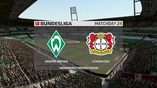 Fifa 20 | werder bremen vs bayer leverkusen - bundesliga 16/03/2020 1080p 60fps