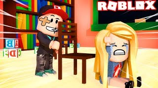 ROBLOX KINDERGARTEN-I BECAME A SCHOOLCHILD ŁOBUZEM! (Roblox Roleplay)-Vito and Bella