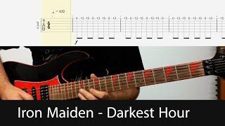 Iron Maiden - Darkest Hour Main Guitar Riffs With Tabs
