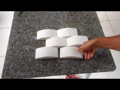 Molde gesso 3D tijolinho Convexo, como fazer.