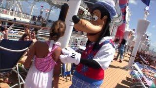 Disney Fantasy Deck 12 & 13 Tour - Pools, Aquaduck, Aqualab, Goofy's Sports, Mini Golf