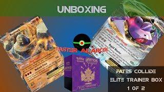Unboxing una caja de la serie XY Fates Collide Trainer box (caja 1 de 2)