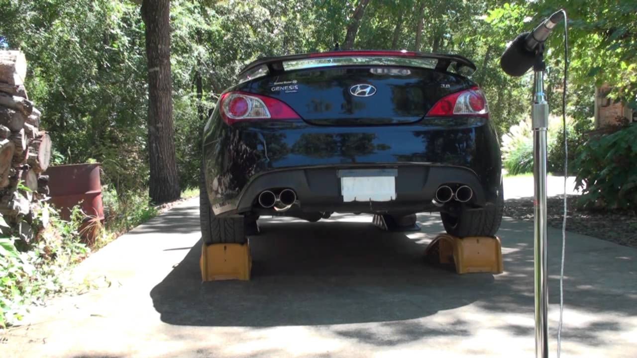 Stillen Cat Back Exhaust 2010 3.8L Hyundai Genesis Coupe Review.mpg    YouTube