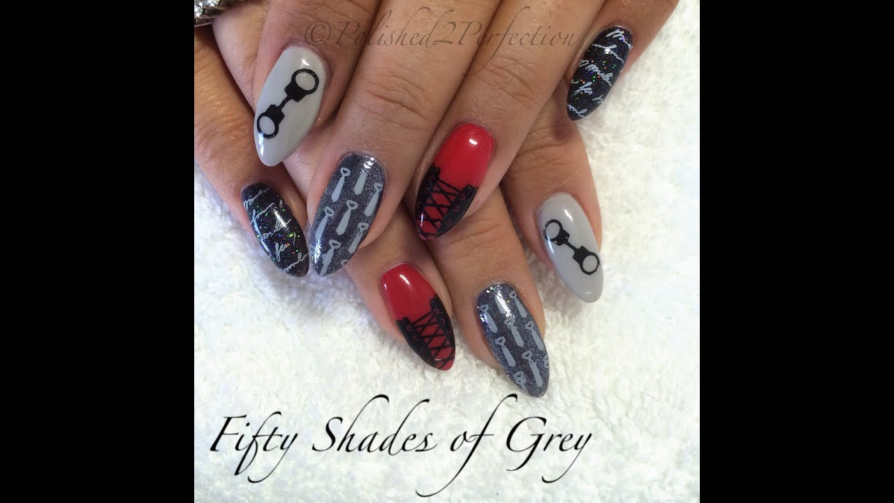 nail art 50 shades of grey