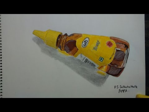Drawing Honey bottle - 3D drawing - Spike Arts with Sathak