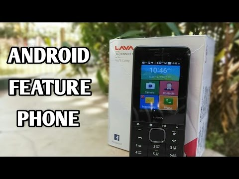 India's First Feature 4G Volte Phone - Lava 4G Connect M1
