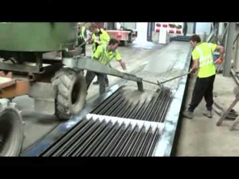 Presse pour poutrelles en béton avec ferraillage
