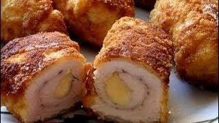Очень вкусные куриные рулетики с сыром -  Приятного Аппетита!